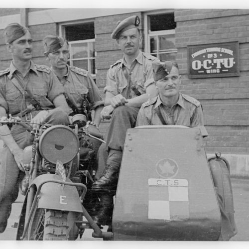 Canadian Training School no. 3, OCTU Wing - Motorcycle class for officers